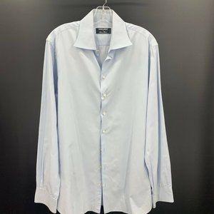 Giorgio Armani Mens Dress Shirt Blue Regular Sz M